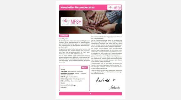 MFSH Newsletter Dezember 2020