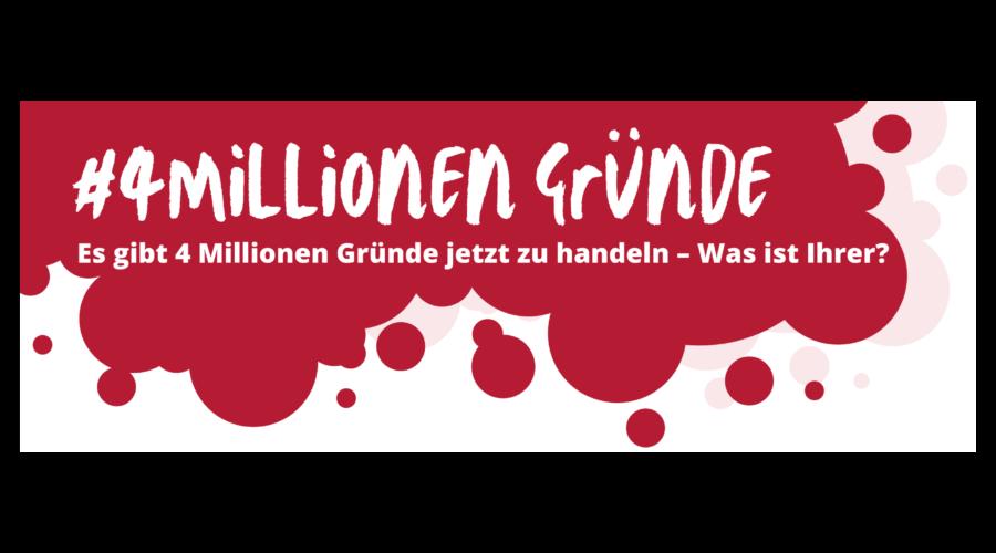 ACHSE-Kampagne #4MillionenGründe