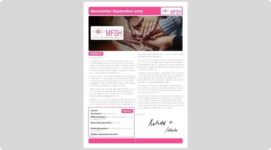 Newsletter September 2021!